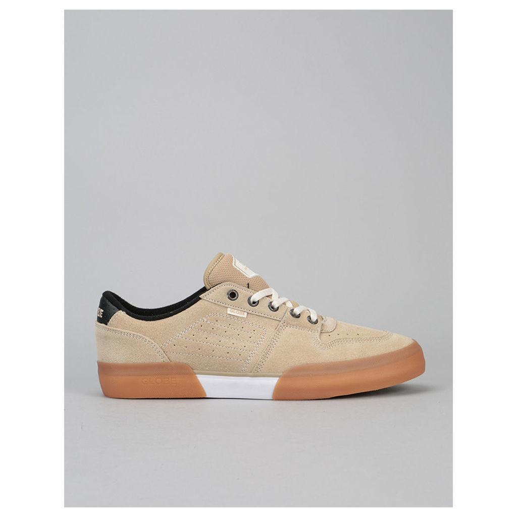 Globe Mojo Legacy Skate Shoes - Khaki/White (UK 7)