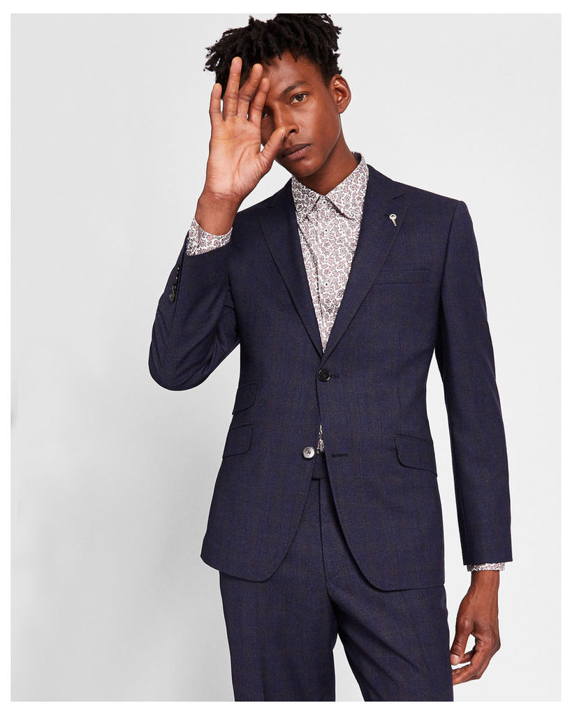 Ted Baker Sterling checked wool suit jacket Blue