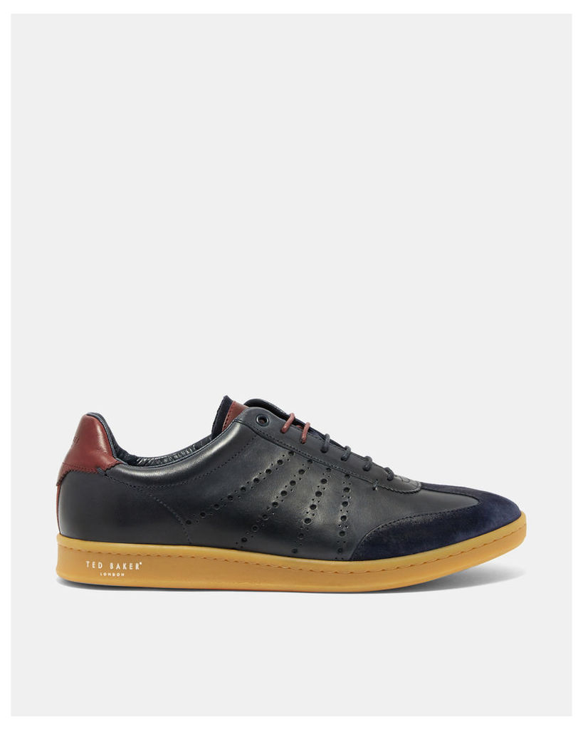 Ted Baker Leather cupsole trainers Dark Blue