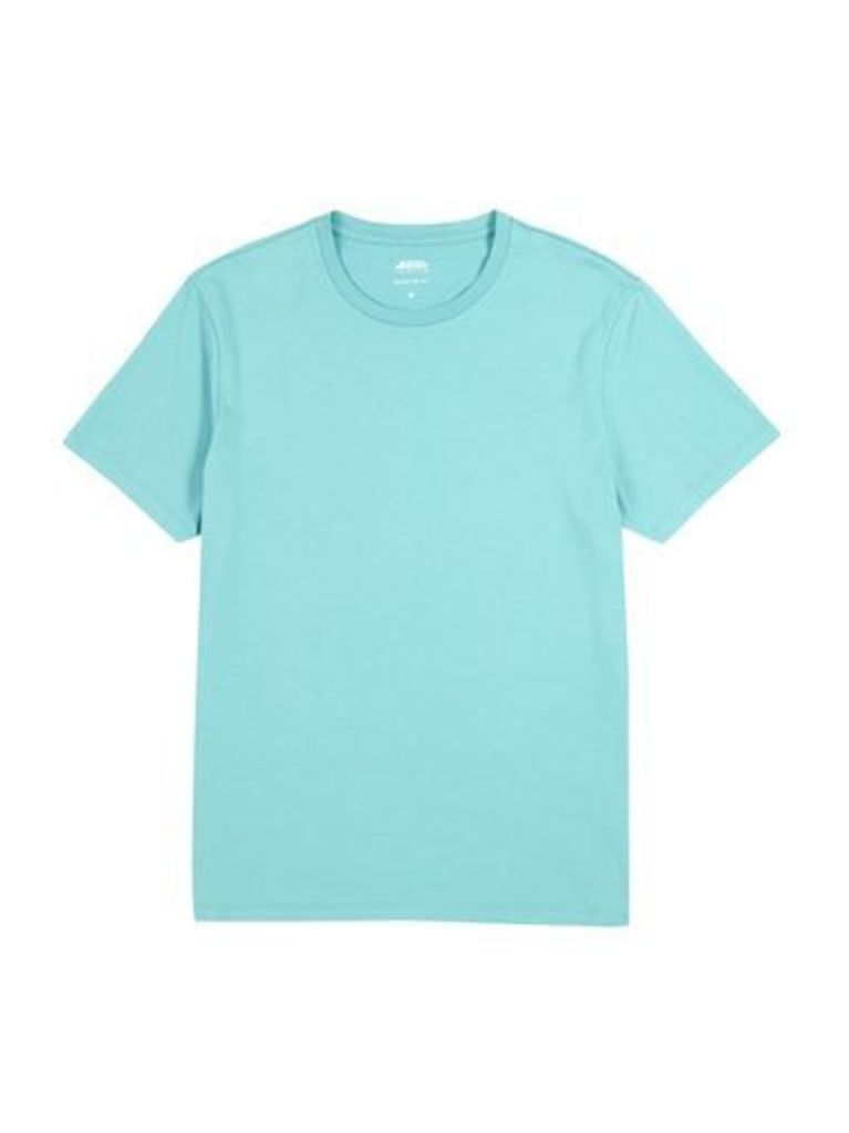 Mens Jade Green Crew Neck T-Shirt, Mid Green