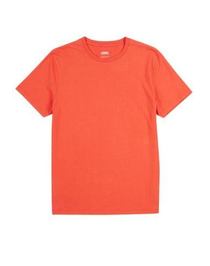 Mens Blood Orange Crew Neck T-Shirt, Orange