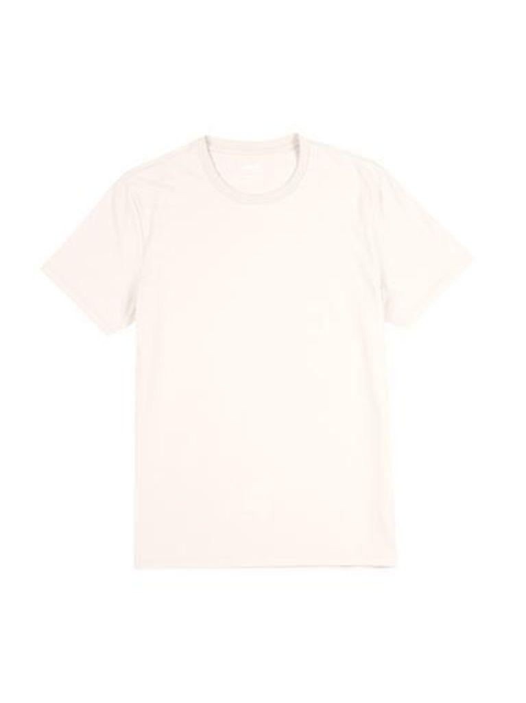 Mens Light Pink Crew Neck T-Shirt, Pink