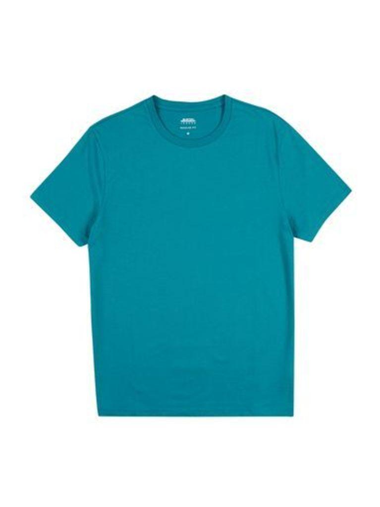 Mens Verdant Green Crew Neck T-Shirt, Mid Green