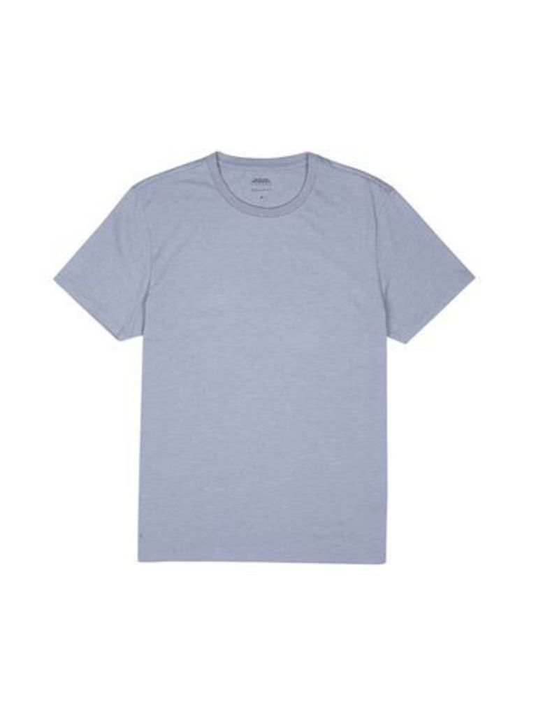 Mens Blueberry Muscle fit Crew Neck T-Shirt, Blue