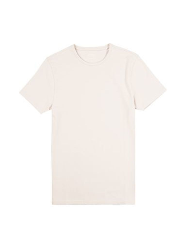 Mens Fresh Pink Muscle Fit Crew Neck T-Shirt, Pink
