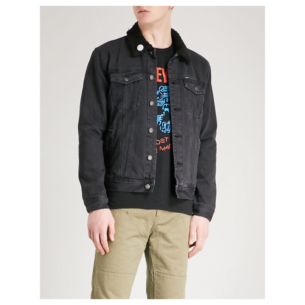 Off the Chain embroidered denim jacket