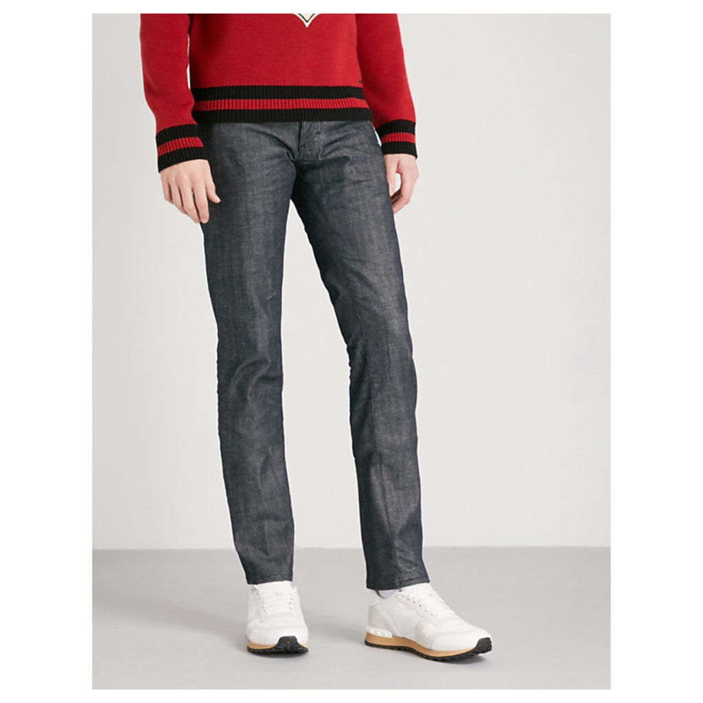 Slim-fit tapered mid-rise jeans