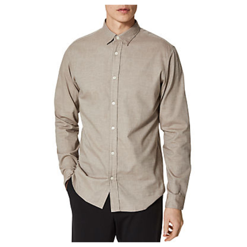 Selected Homme One Sal Long Sleeve Shirt, Walnut Brown