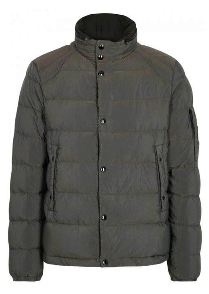 C.P. Company Dark Grey Quilted Shell Jacket - Size 42