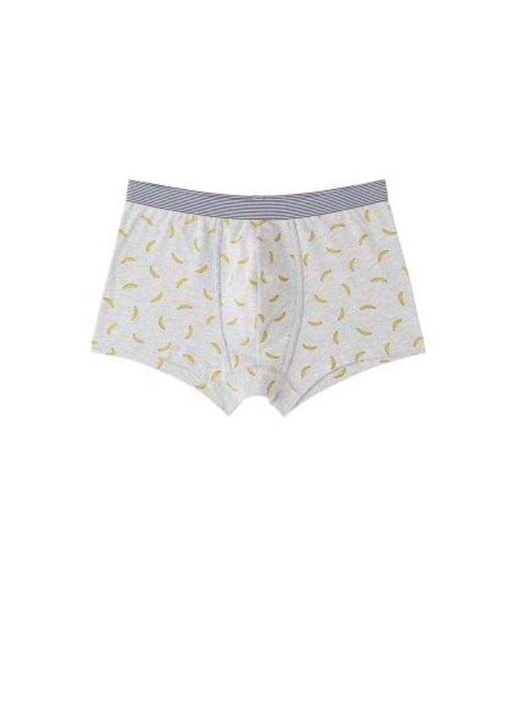 Banana print cotton boxer shorts