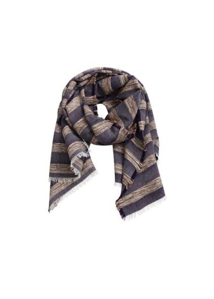 Striped textured scarf