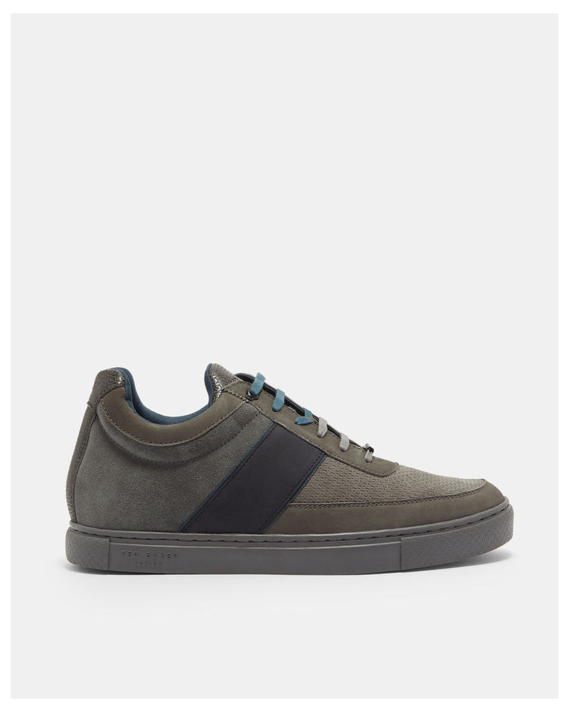 Ted Baker Suede cupsole trainers Grey