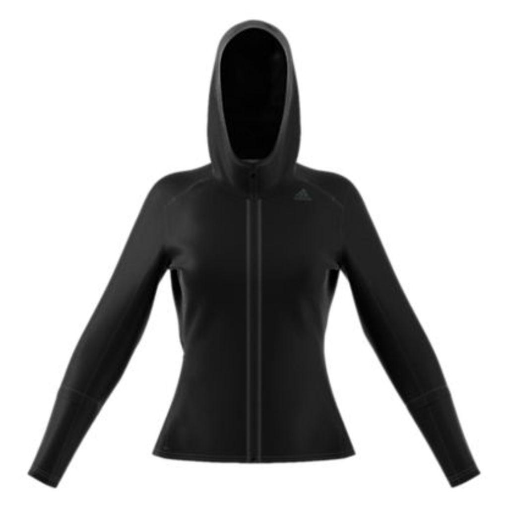 Adidas Response Hooded Wind Running Jacket, Black