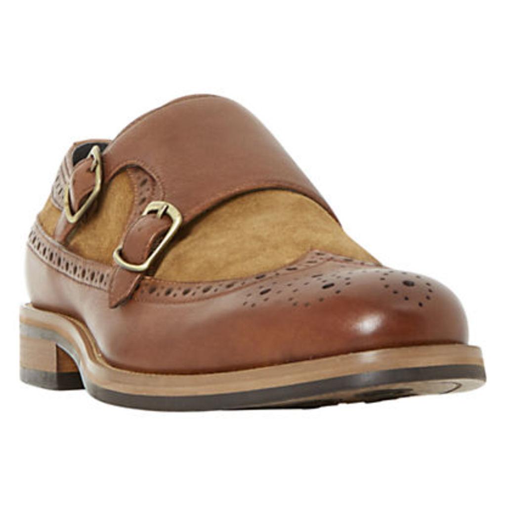 Bertie Preach Double Buckle Monk Shoes, Tan