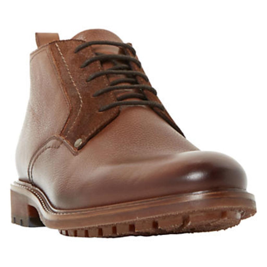 Bertie Cell Plain Grain Short Chukka Boots, Tan
