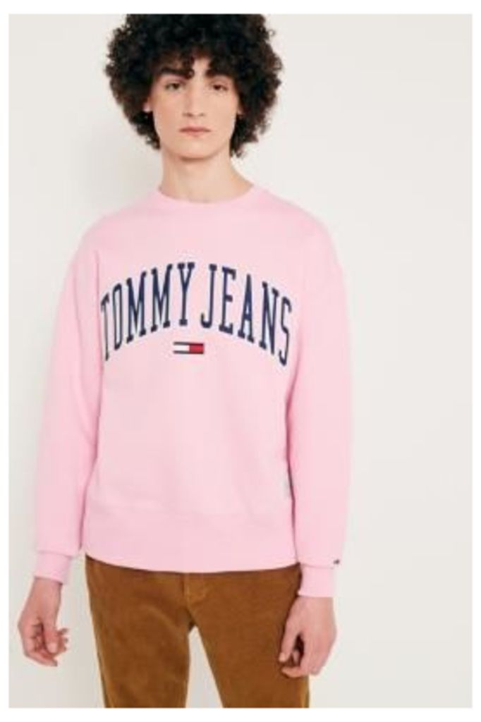 Tommy Jeans Collegiate Pink Sweatshirt, Lilac