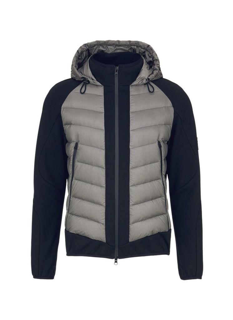 Panelled unisex down puffer jacket