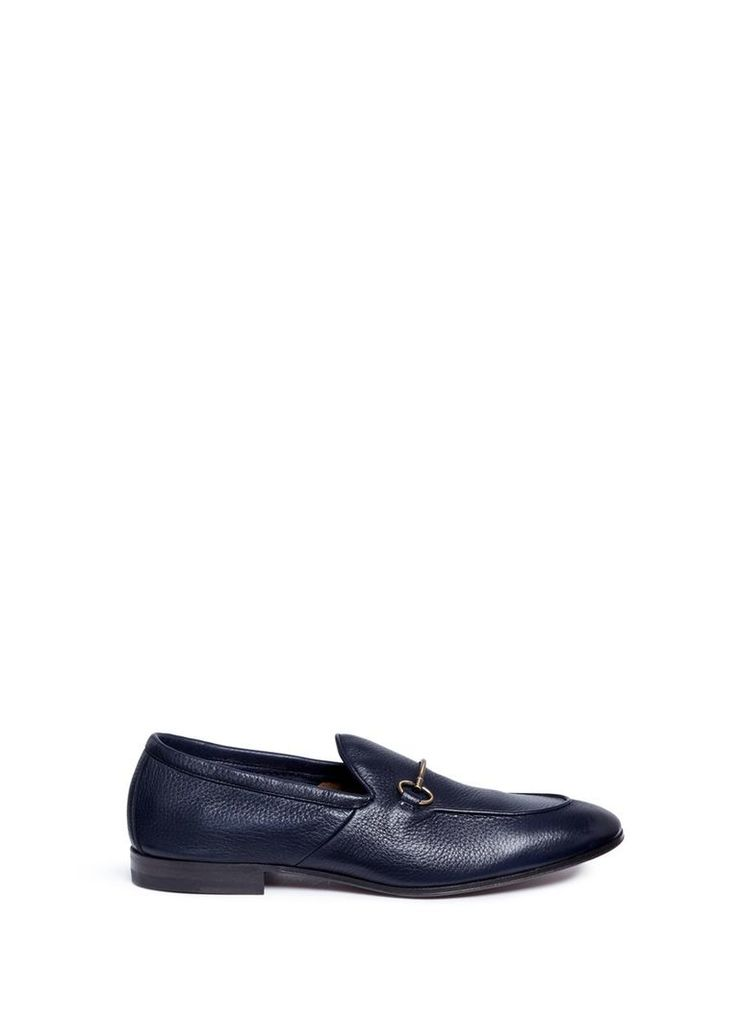 Horsebit deerskin leather loafers