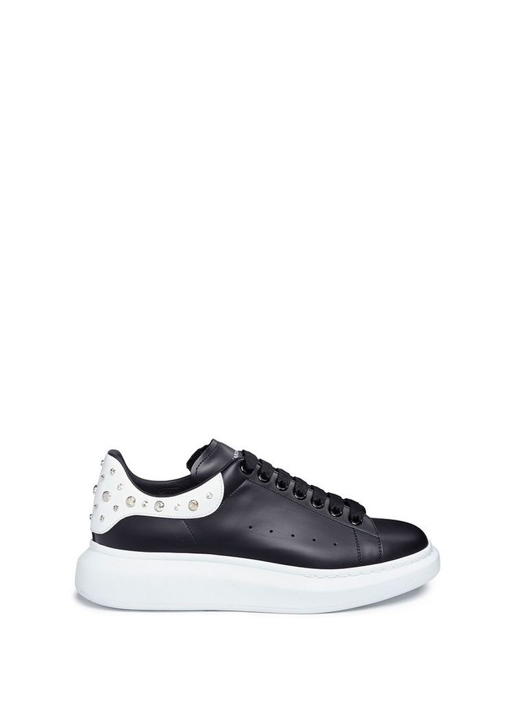 'Larry' stud collar platform leather sneakers