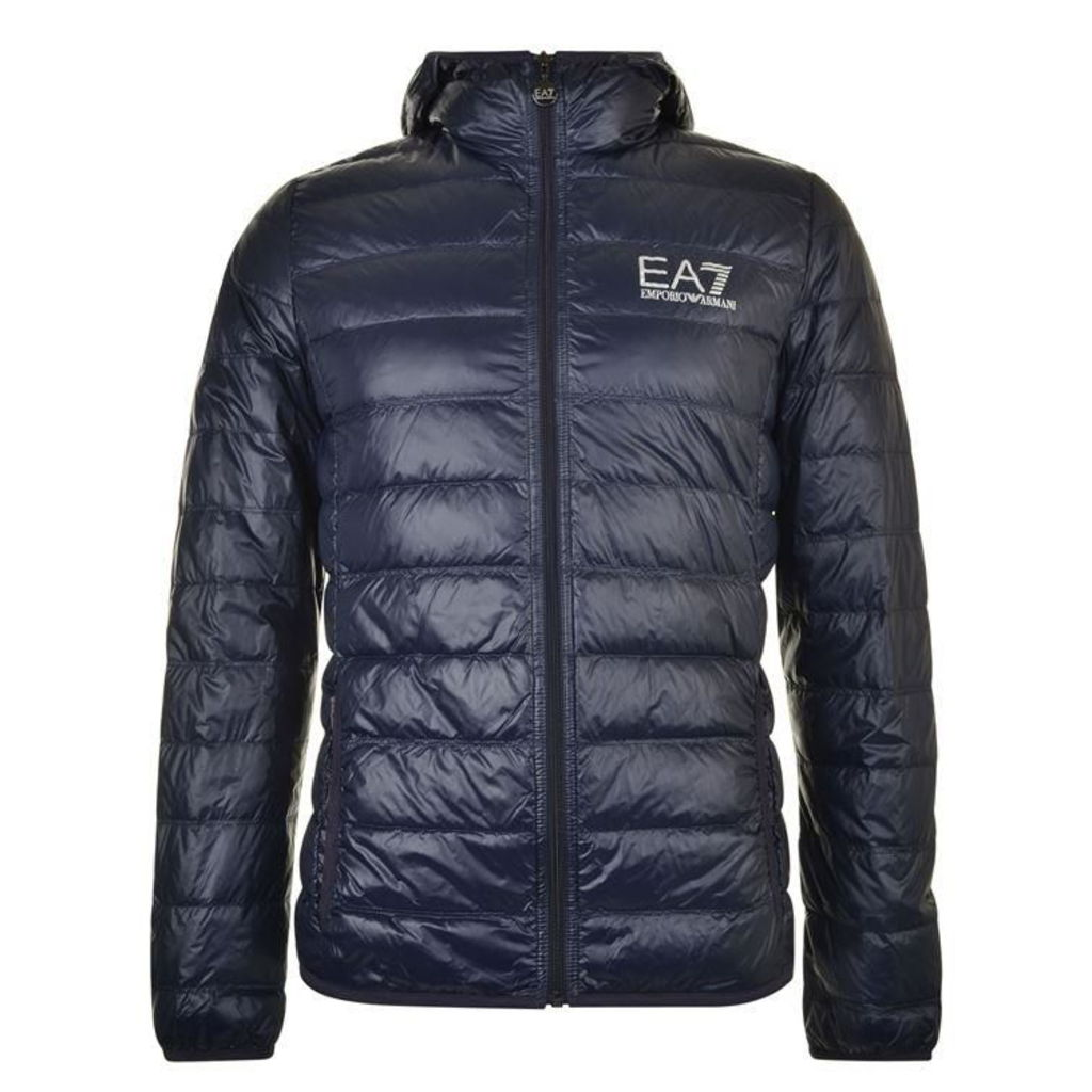EA7 Bubble Hood Logo Coat