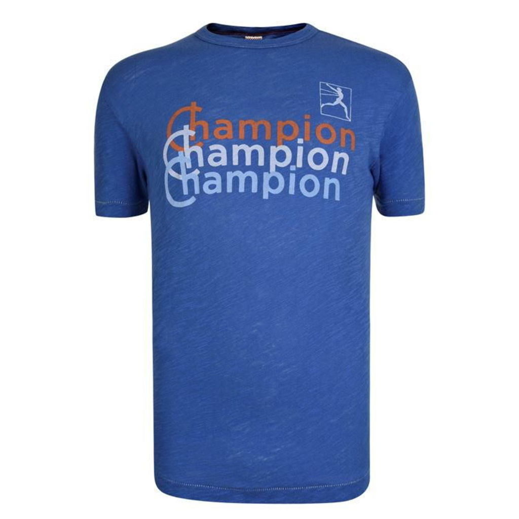CHAMPION Logo Short Sleeved T Shirt