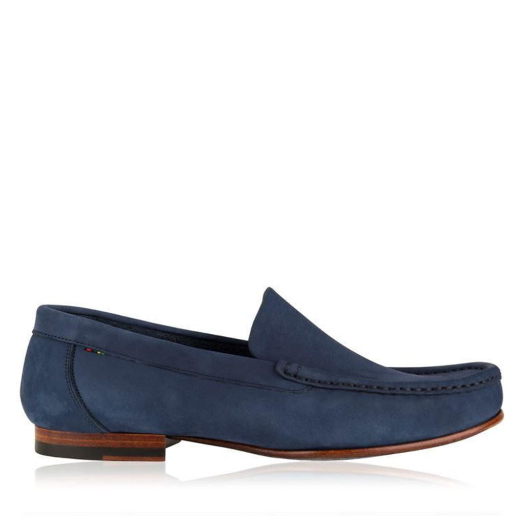 PAUL SMITH Nubuck Slipper Loafers