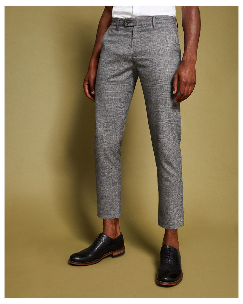 Ted Baker Check cropped trousers Grey