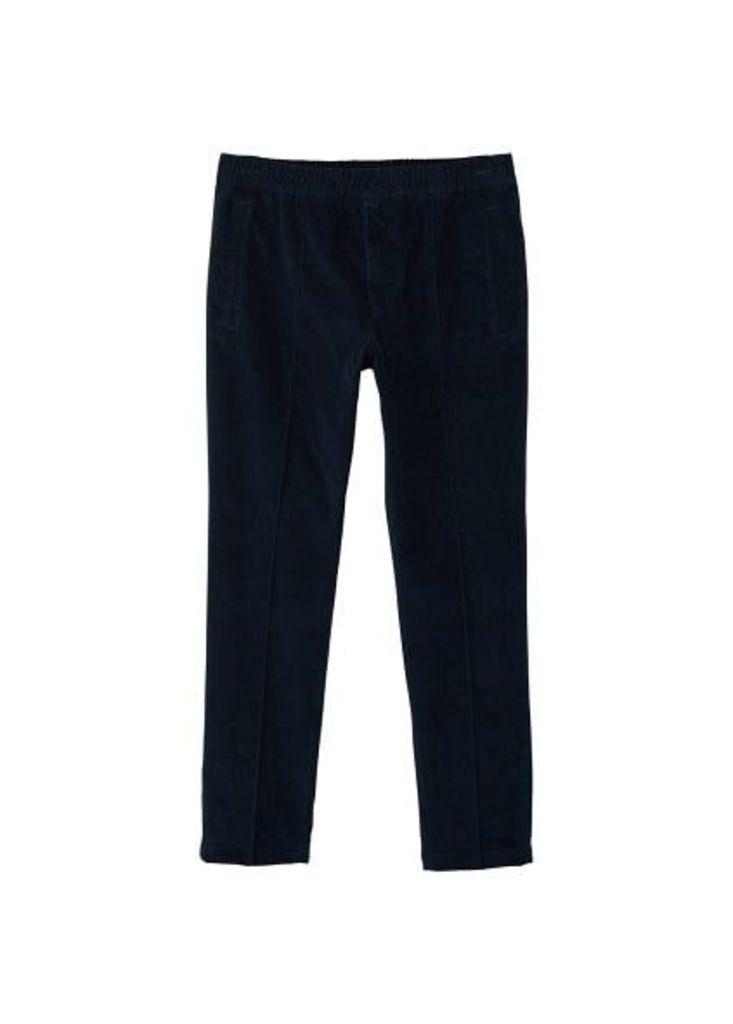 Corduroy jogging trousers