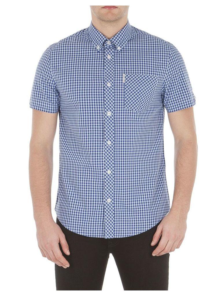 Short Sleeve Core Gingham Shirt Sml SKY Sky Blue