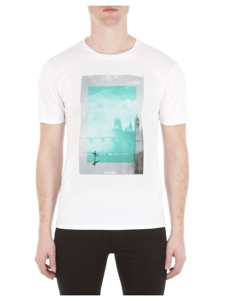 London Surfing T-Shirt Sml A47 Bright White