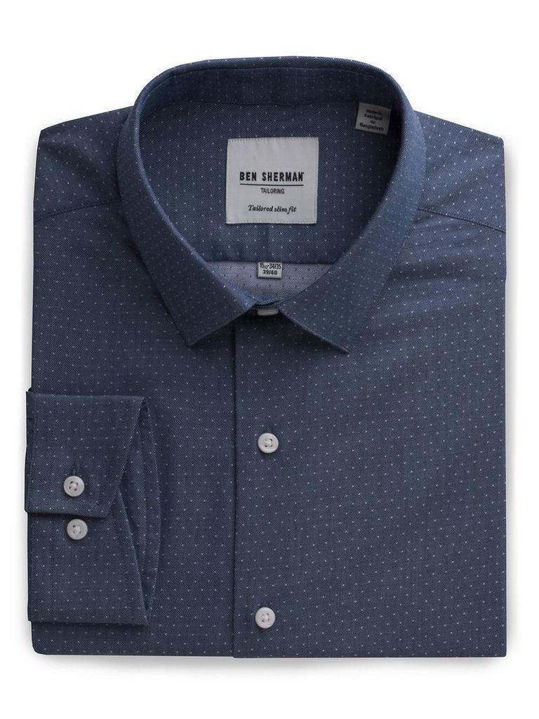 Slim Fit Dobby Shirt 15.5 Pea Coat