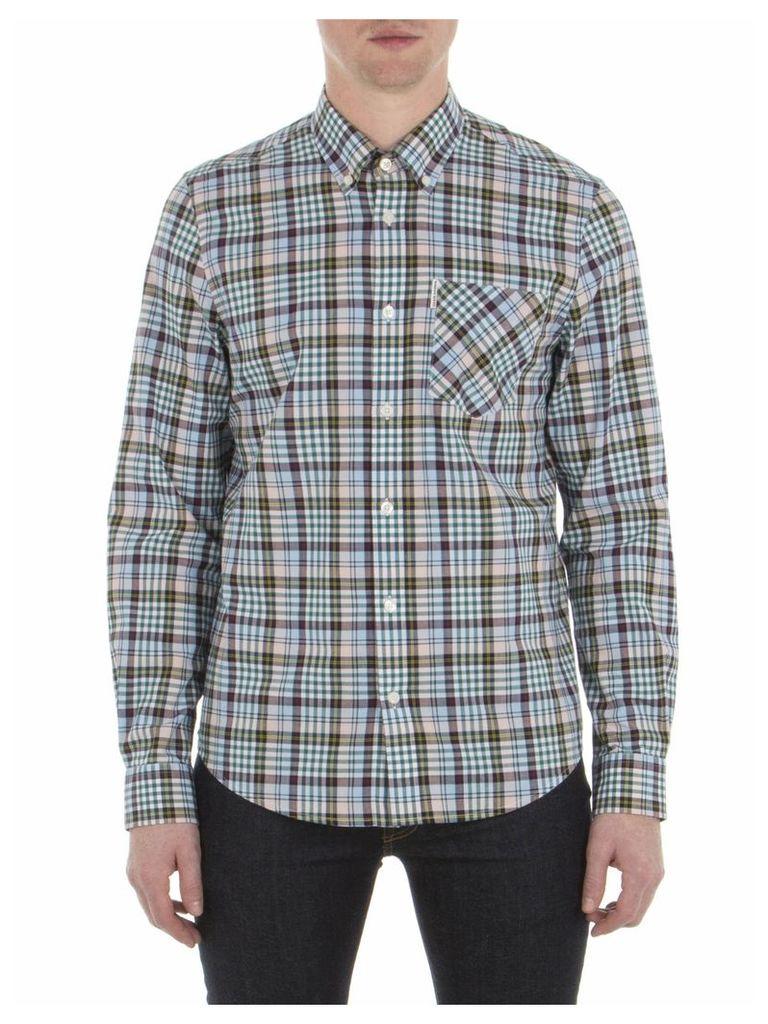 Long Sleeve Tartan Gingham Shirt 4XL G03 Chalk Pink