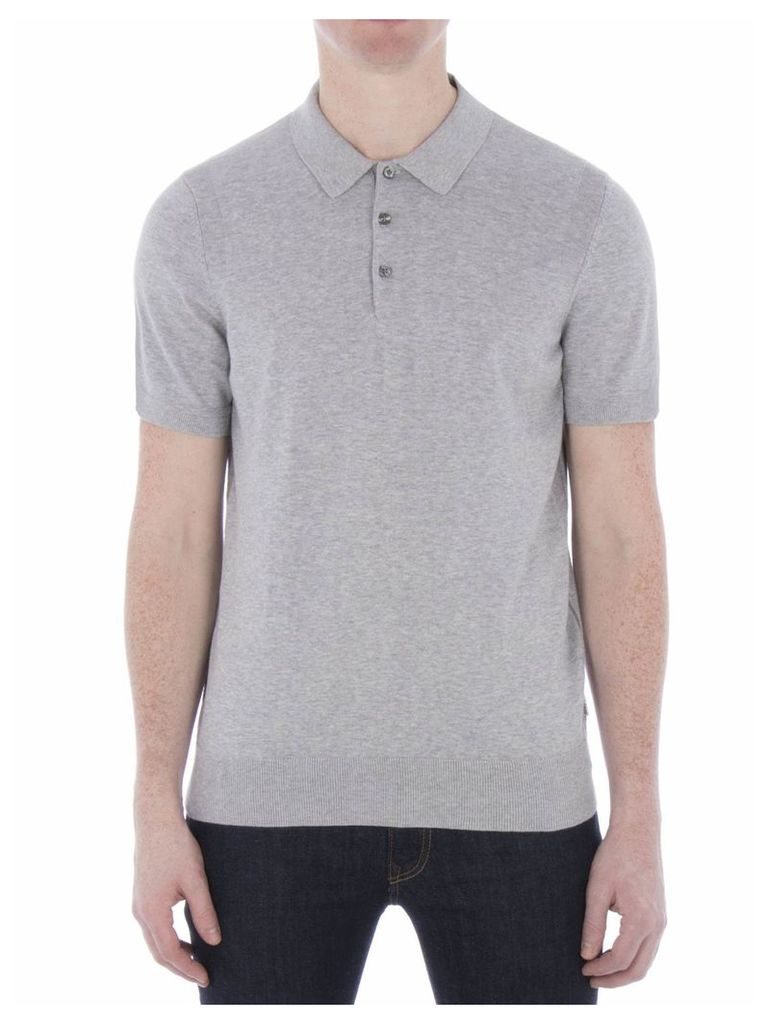 Cotton Short Sleeve Knitted Polo XXL F18 Oxford Marl