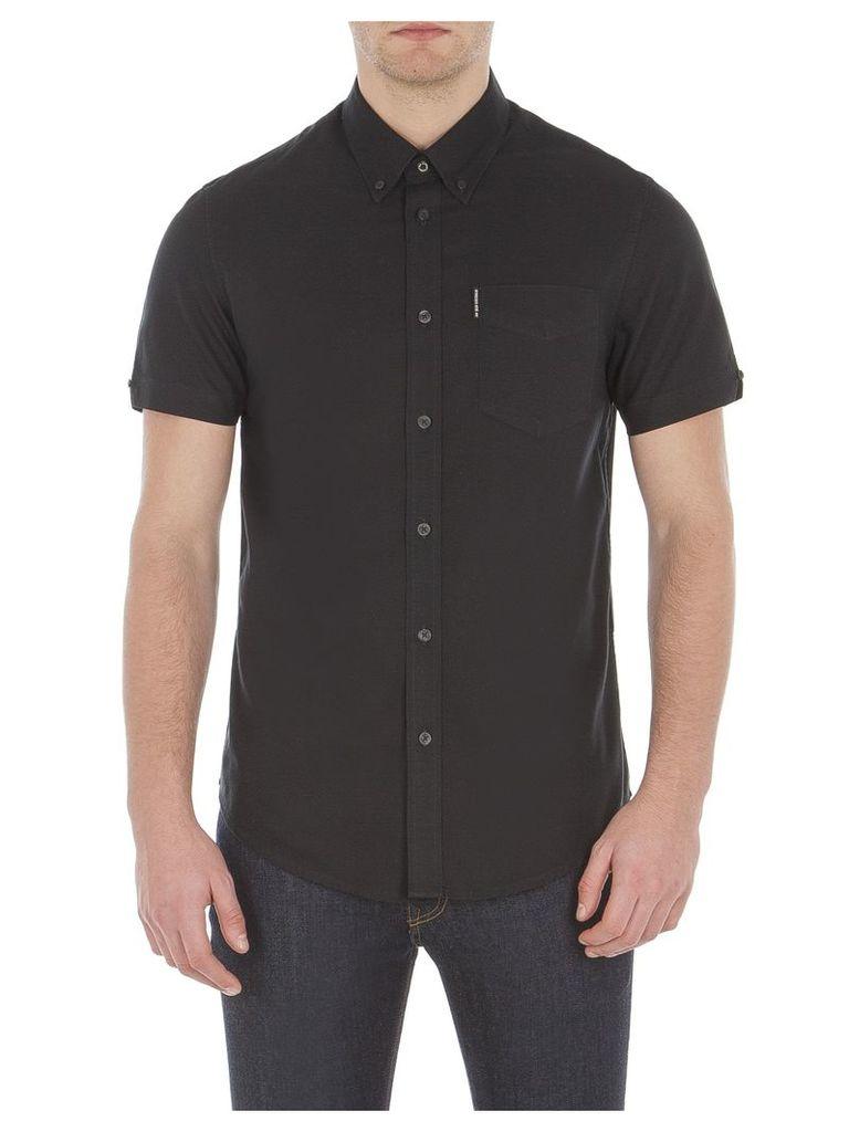 Short Sleeve Classic Oxford Shirt XXL TBL True Black