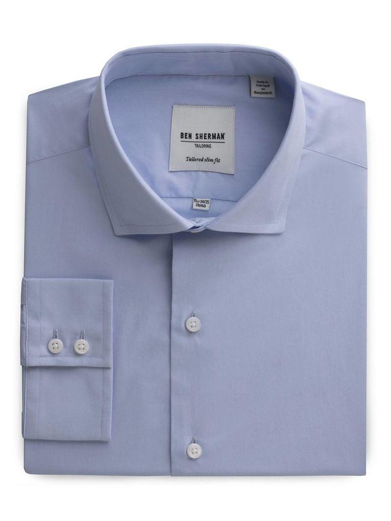 Slim Fit Poplin Shirt 14.5 Cashmere Blue