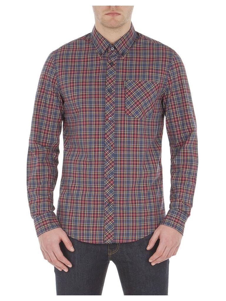 Long Sleeve Tartan Shirt XXL 149 Red