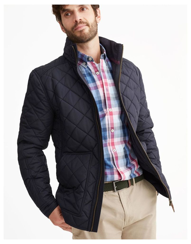 Marine Navy Retreat Quilted Jacket  Size XXL | Joules UK