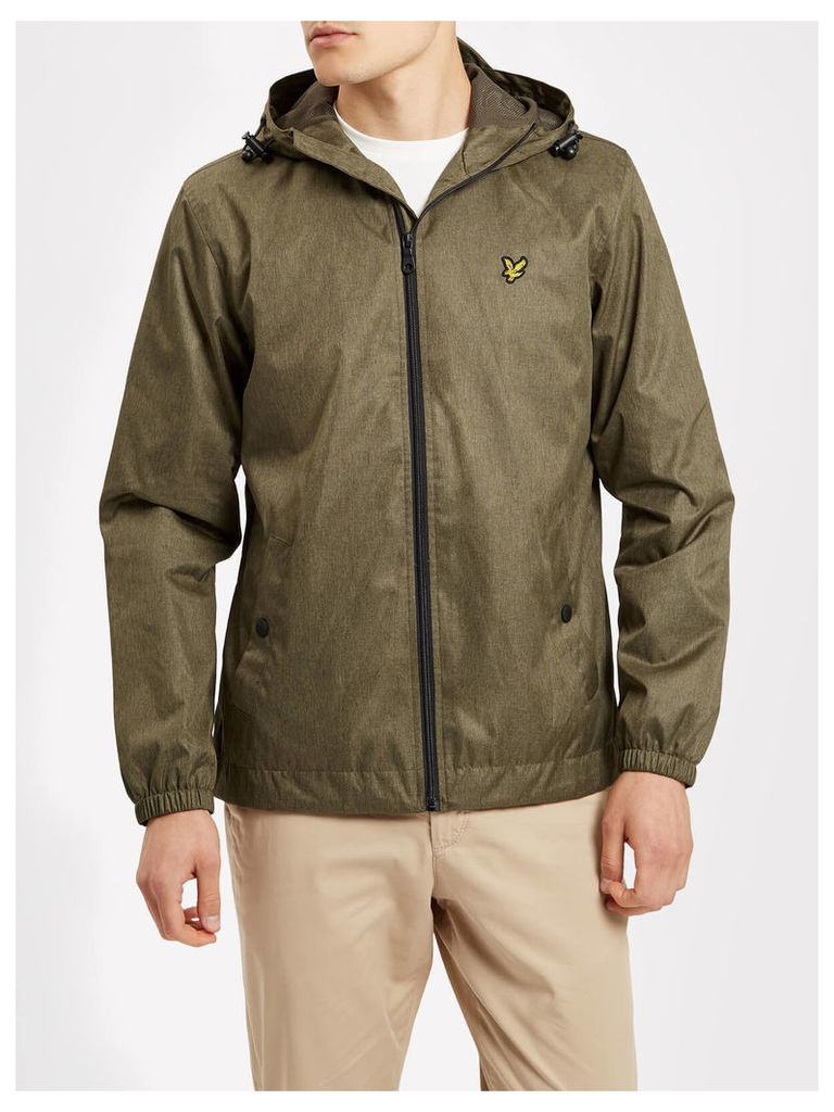Lyle & Scott Zip Through Hooded Marl Jacket
