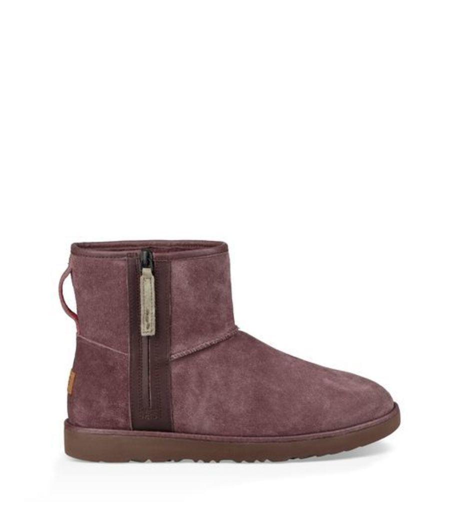 UGG Classic Mini Zip Waterproof Boot Mens Boots Cordovan 10