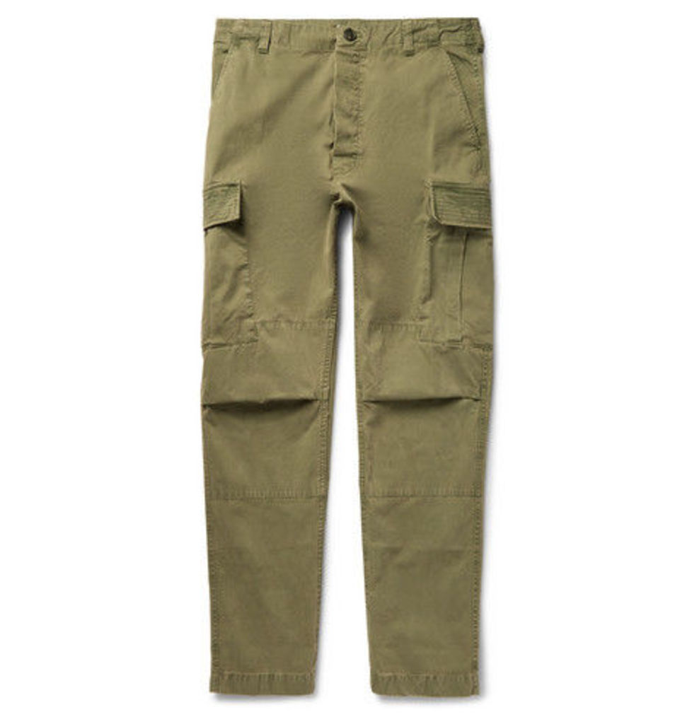 Zach Garment-dyed Cotton-twill Cargo Trousers