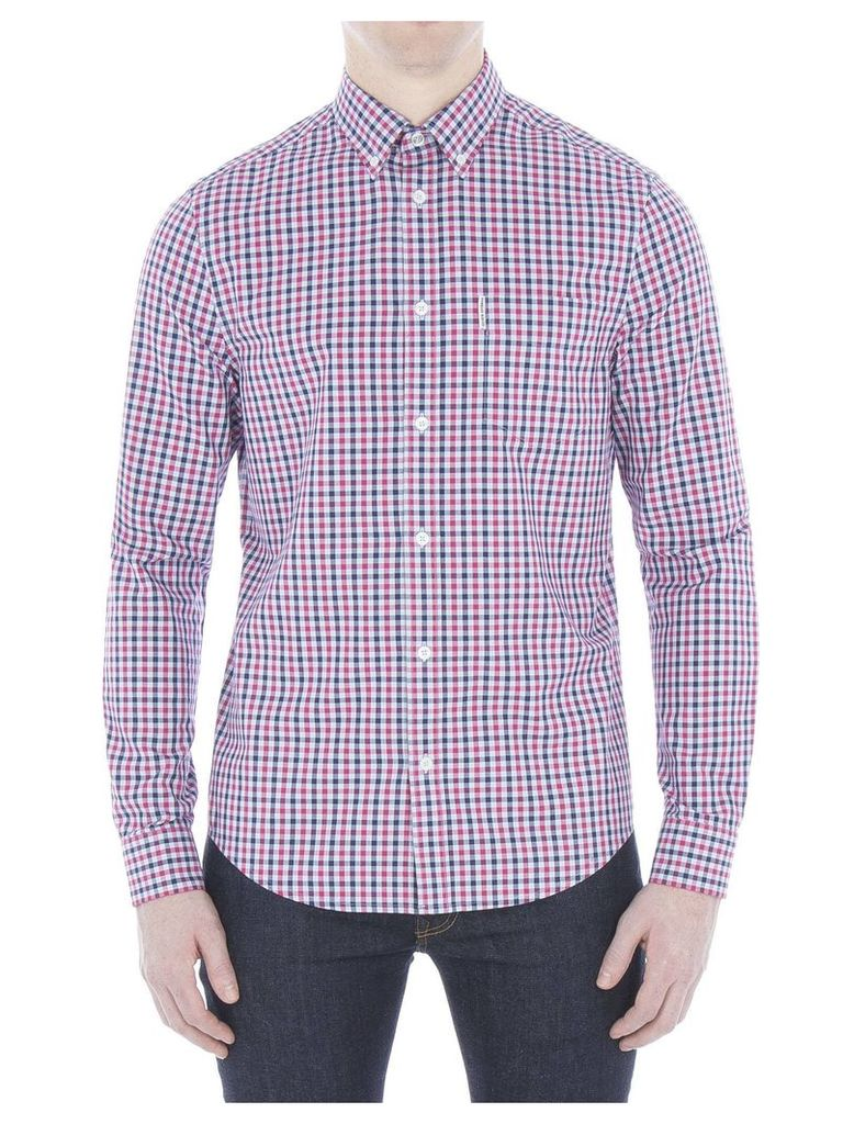 Long Sleeve House Gingham Check Shirt XL 25 Fuschia