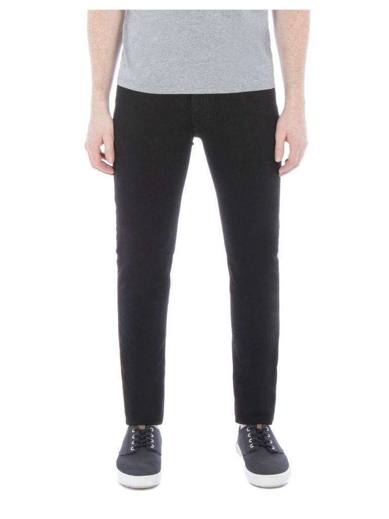 Holborn True Skinny Fit Black Jeans 40S Jet Rinse