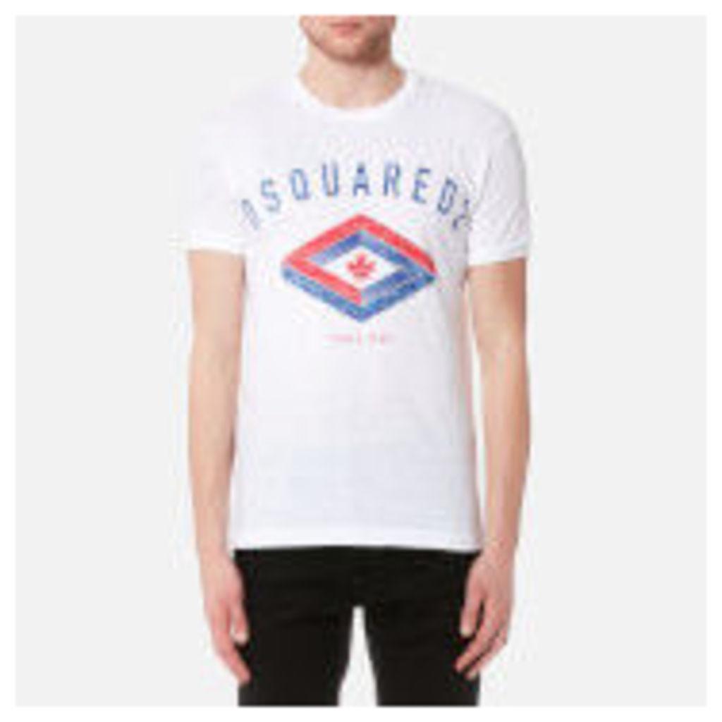 Dsquared2 Men's Maple Diamond Logo Chic Dan Fit T-Shirt - White - XL - White