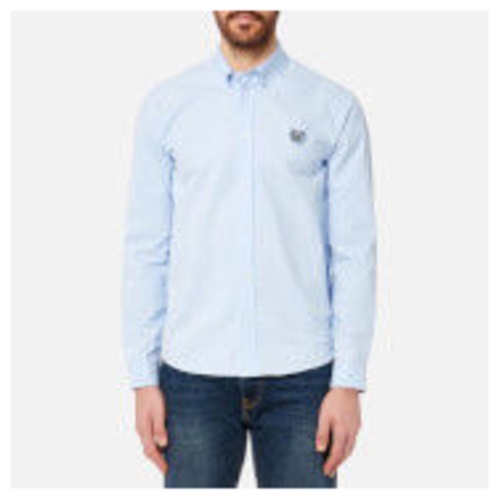 KENZO Men's Tiger Crest Casual Fit Oxford Shirt - Light Blue - XXL - Blue