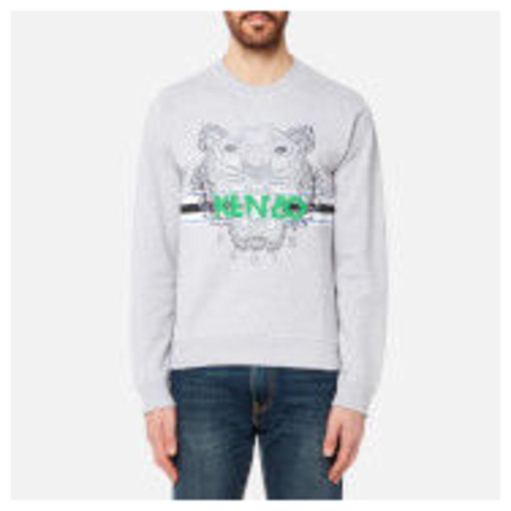 KENZO Men's Sport Type Tiger Sweatshirt - Grey - XXL - Grey