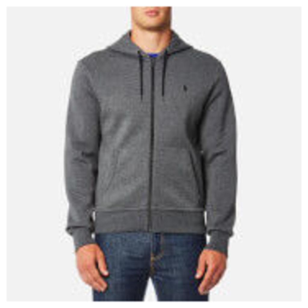 Polo Ralph Lauren Men's Double Knit Tech Zip Hoody - Charcoal - S - Grey