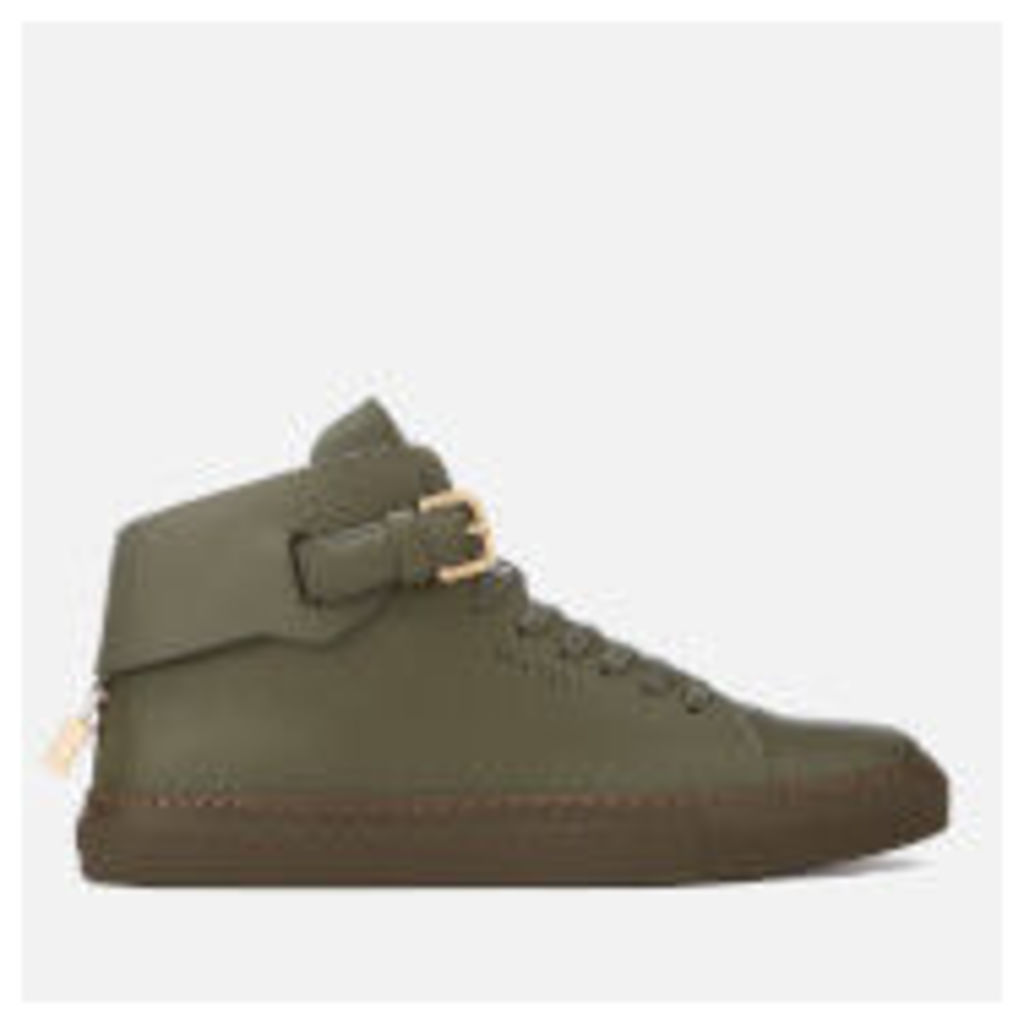 Buscemi Men's 100mm Clean Buckle Trainers - Military - UK 11 - Green
