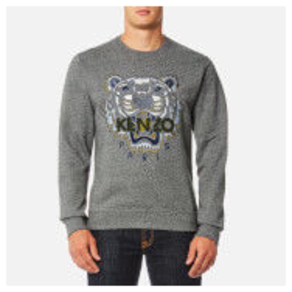 KENZO Men's Classic Icon Sweatshirt - Anthracite - M - Grey