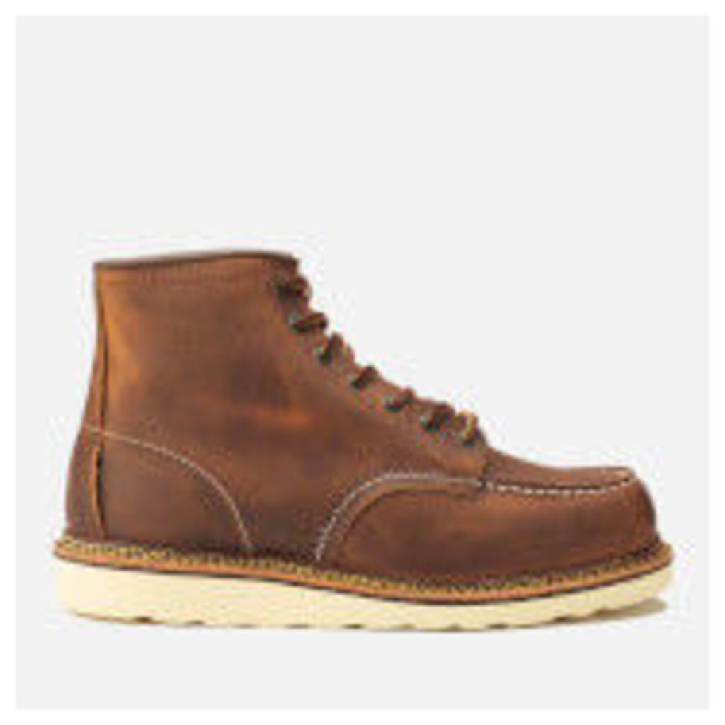 Red Wing Men's 6 Inch Moc Toe Double Welt Leather Lace Up Boots - Copper Rough and Tough - UK 10/US 11 - Tan
