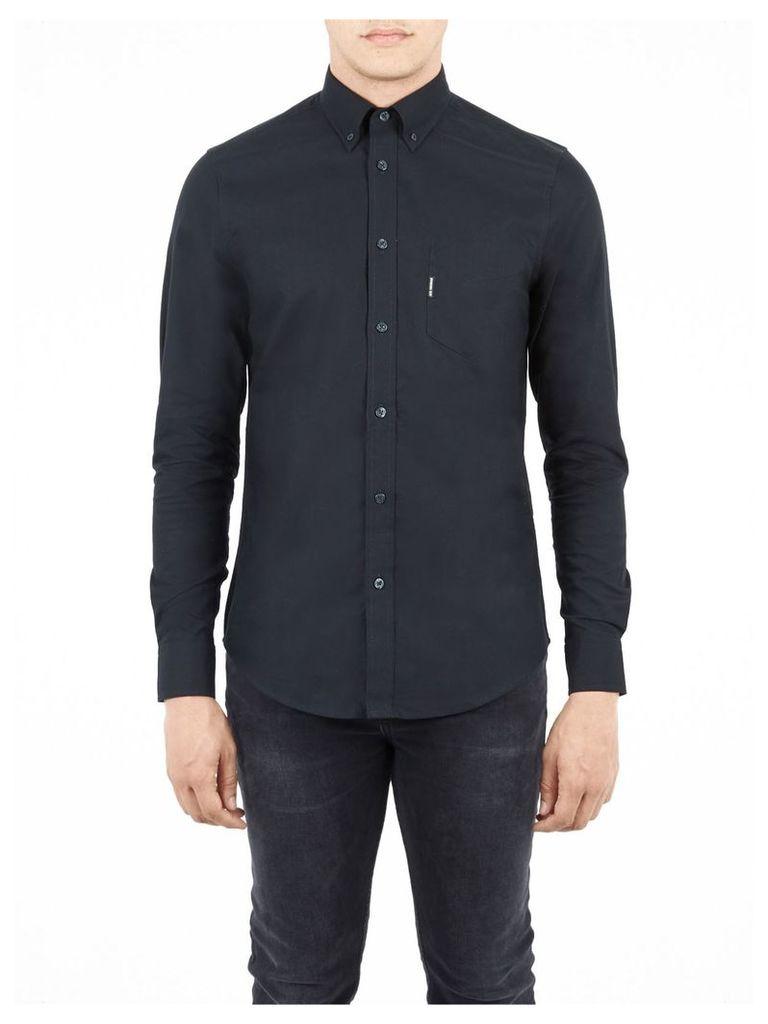Classic Oxford Long Sleeve Shirt Med Jet Black